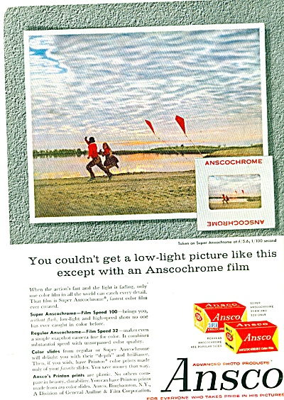 Ansco ansocochrome file ad - 1958 (Image1)