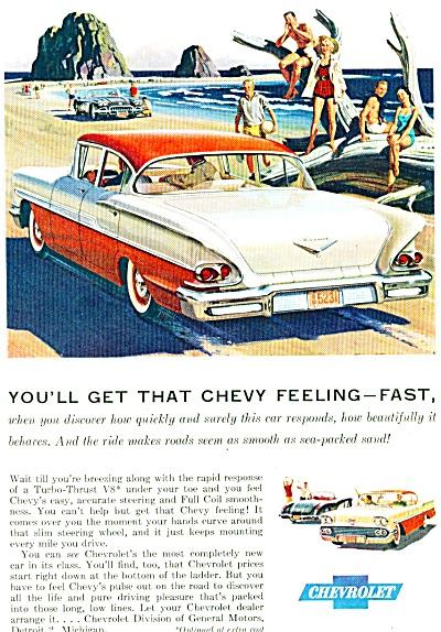 Chevrolet CAR V8 TURBO automobile ad. (Image1)