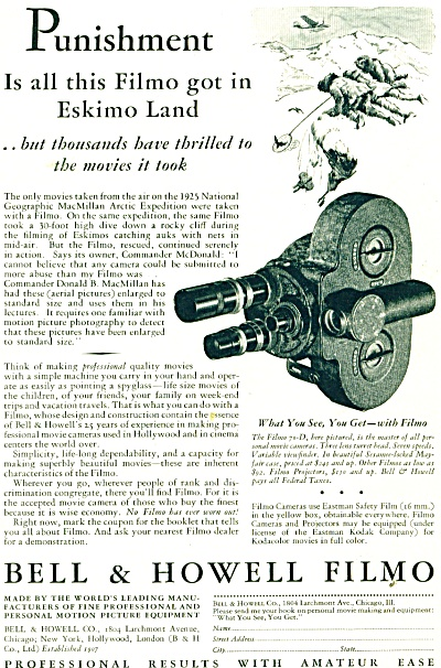 Bill & Howell Filmo ad - 1932 (Image1)
