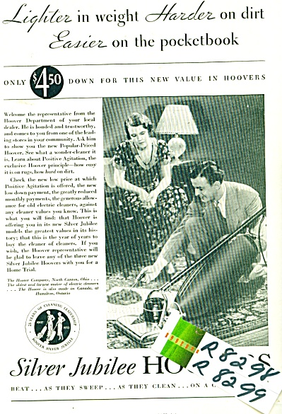 1932 Hoover vacuums ad  Salesman Demonstrate (Image1)