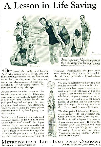 1932 Metropolitan Life Insurance AD ART SIP (Image1)