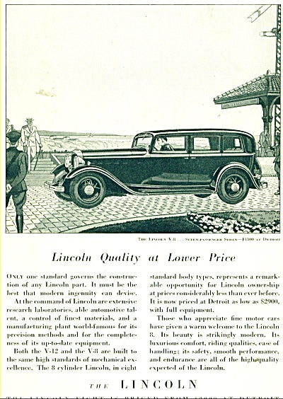 1932 Ford LINCOLN Promo CAR AD COOL ARTWORK (Image1)