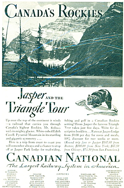 Canadian National railway ad - 1932 (Image1)