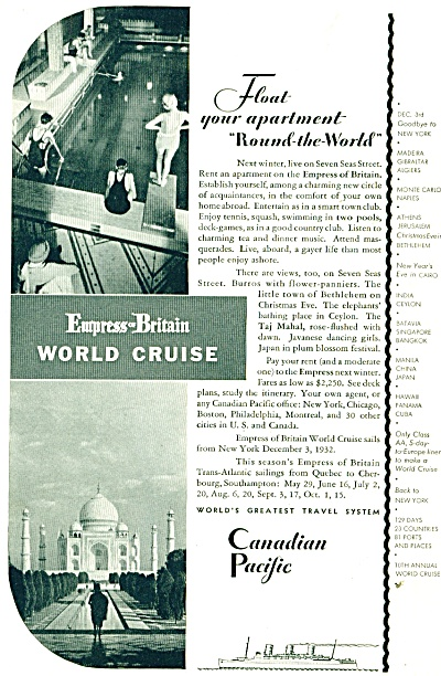 Canadian Pacific travel system ad 1932 (Image1)