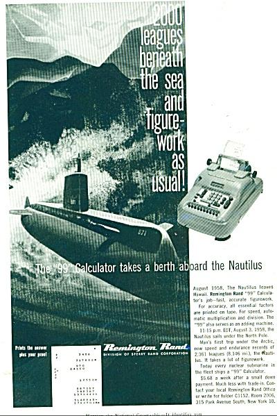 Remington Rand ad calculator - 1959 (Image1)
