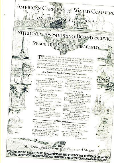 American Carriers of World Commerce ad - 1921 (Image1)