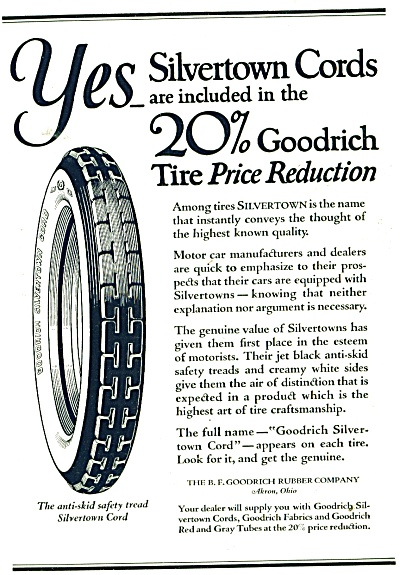 Silvertown Cords bicycle tires. ad  1921 (Image1)