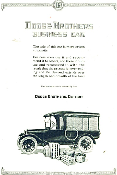 1921 AD Dodge Brothers Business CAR Automobile  (Image1)