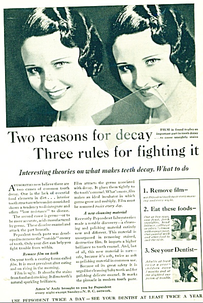Pepsodent tooth paste ad - 1932 (Image1)