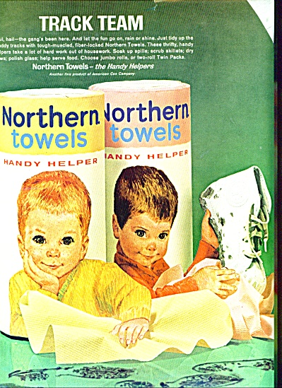 1963 TWO  BOYS Northern Towels AD (Image1)