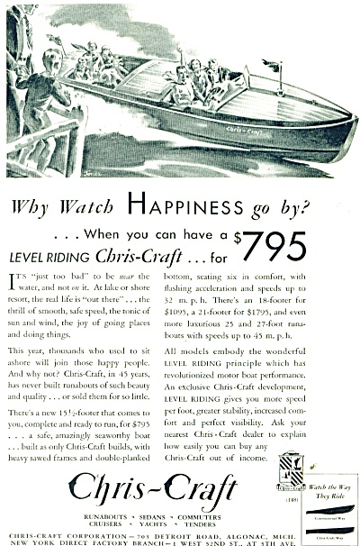 1932 Chris Craft BOAT AD  JONES ARTWORK (Image1)