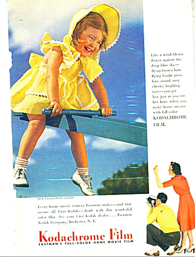 1941 Kodachrome film ad Yellow Bonnett GIRL (Image1)