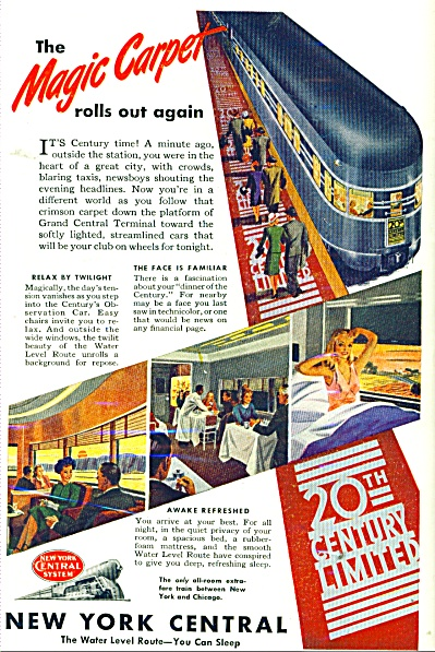 New York Central ad - 1946 RAY PROHASKA ? ART (Image1)