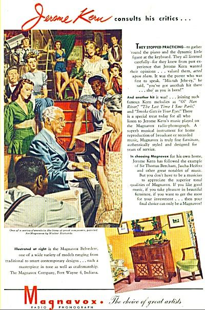 1945 Magnavox AD Jerome Kern  Walter Richards (Image1)