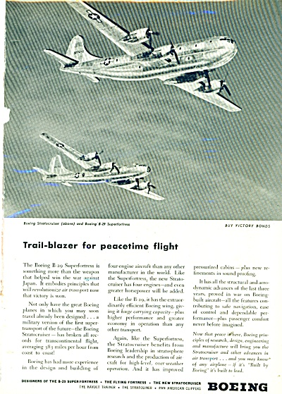 Boeing Airplane designers ad - 1945 (Image1)