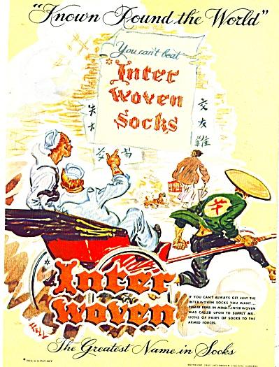 Inter woven socks ad 1945 (Image1)