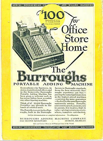 The Burroughs adding machine company ad -1927 (Image1)