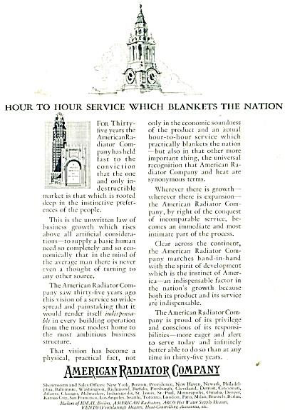 1927 American Radiator Company ad - 1927 (Image1)