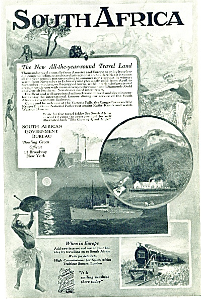 South Africa Travel Land ad - 1927 (Image1)