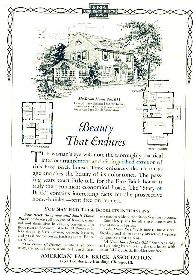 American Face Brick Association ad - 1927 (Image1)