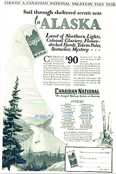 Canadian National railway system ad - 1927 (Image1)