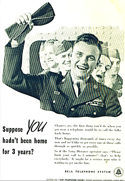 Bell Telephone Soldier Comes Home Ad - 1945