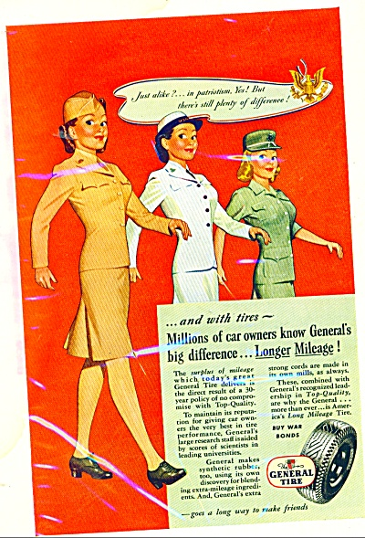 General Tire Company Ad 1945 Dal Holcomb Art