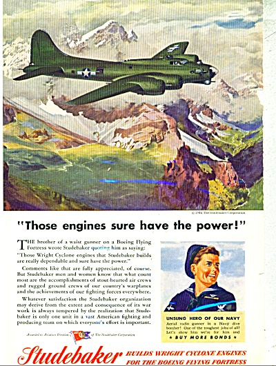1944 Studebaker AD Wartime FLYING FORTRESS AR (Image1)