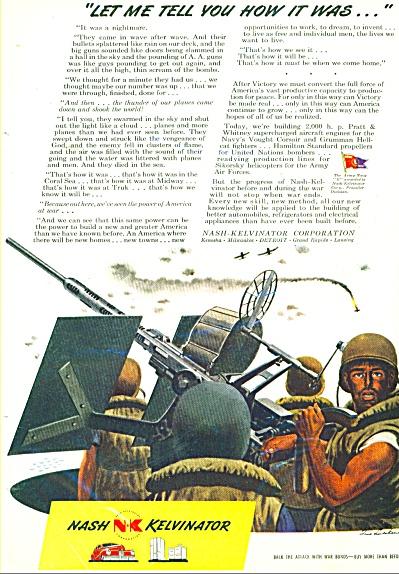 1944 Nash Kelvinator AD WWII  LUDEKENS ART (Image1)
