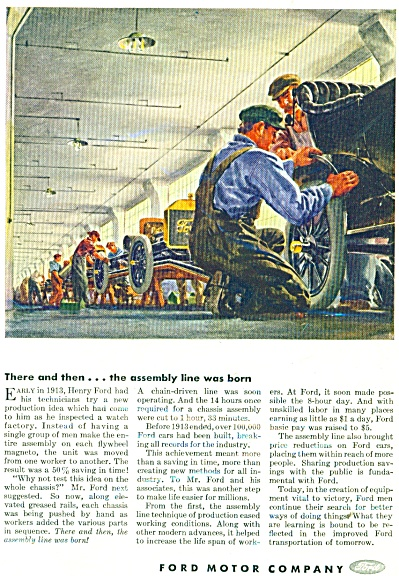 Ford Motor Car.  Great olden day picture - ad (Image1)