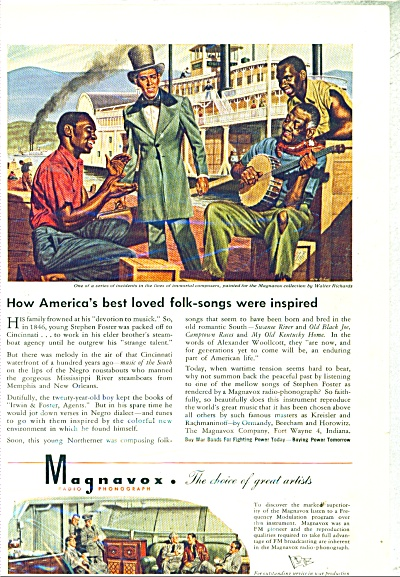 1944 Magnavox Ad Negro Rousabouts - Richards