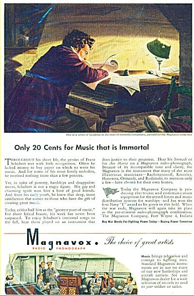 1944 Magnavox radio phonograph AD SCHUBERT (Image1)