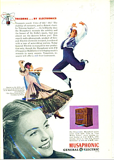 Musaphonic By General Electric Ad - 1944
