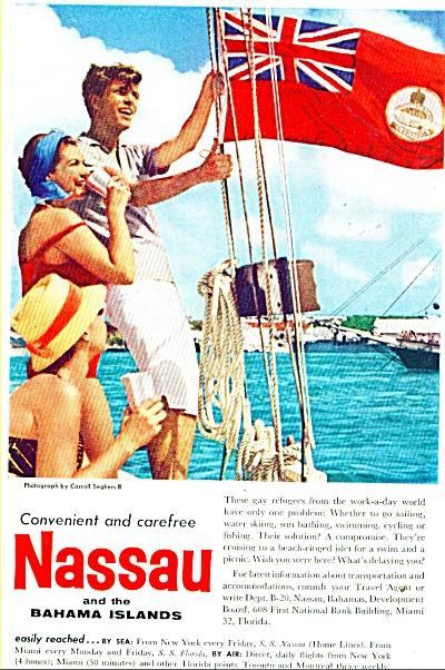 Nassau and the Bahama Islands ad - 1959 (Image1)