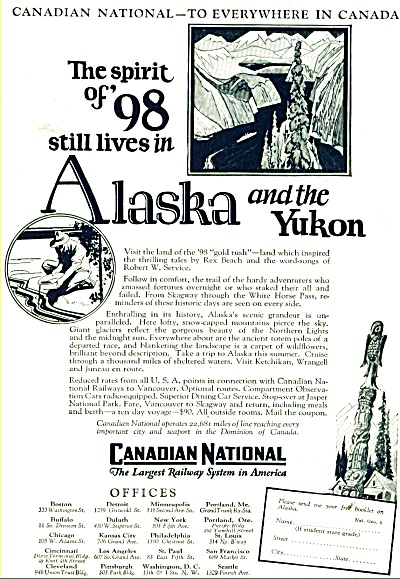Canadian National Railway ad  1928 (Image1)
