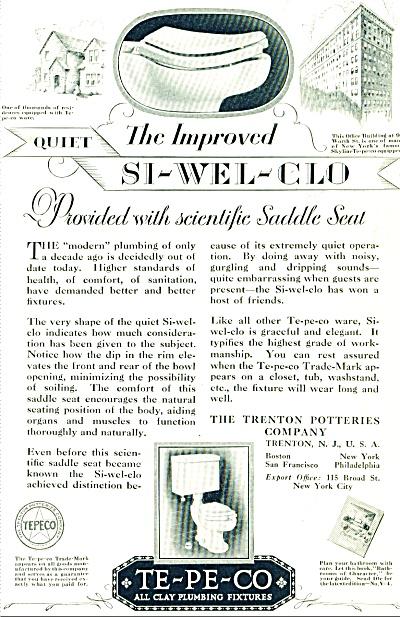 Te-Pe-Co plumbing fixtures ad 1928 (Image1)