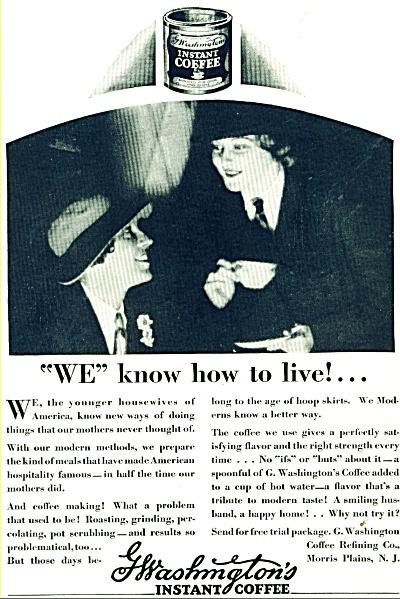 G.Washington's instant coffee ad - 1928 (Image1)