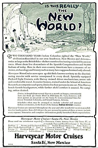 Harveycar Motor Cruises ad - 1928 (Image1)