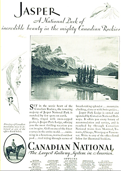 Canadian National Railway ad - 1931 (Image1)