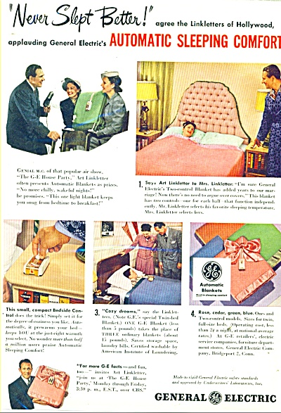 1948 General Electric Blanket AD LINKLETTER (Image1)