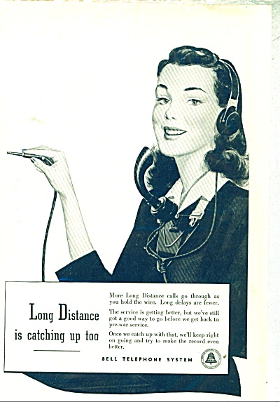Bell Telephone System ad - 1948 LONG DISTANCE SERVICE (Image1)