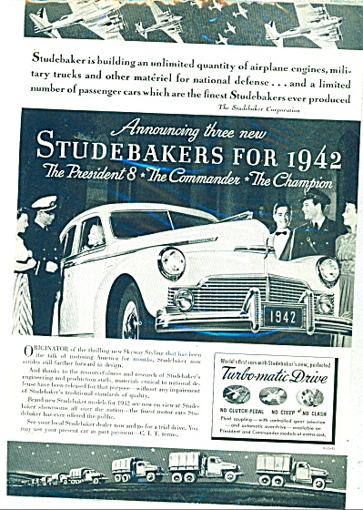 Studebaker automobile for 1942 (Image1)