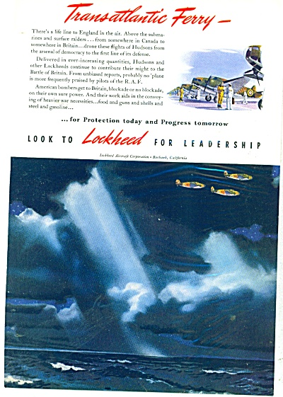 Lockheed Aircraft Corporation Ad - 1941