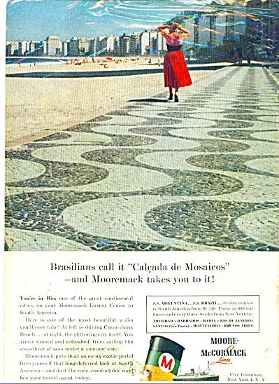 Moore-McCormack luxury cruise line ad - 1957 (Image1)