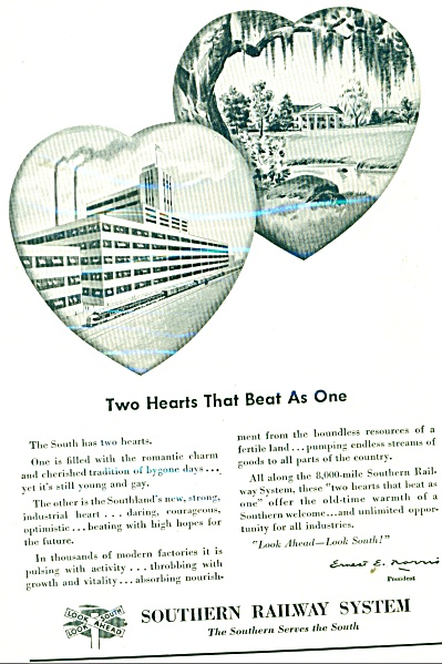 1948 Southern Railway System AD 2 Heart SOUTH (Image1)