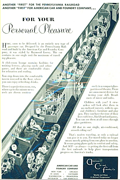 American Car and Foundry company ad - 1948 (Image1)