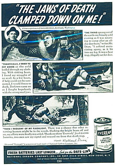 1941 EVEREADY AD Real Life BALLARD DEAN (Image1)