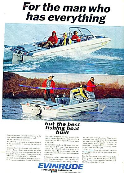 1966 Evinrude Boat Motor AD FISHING MEN (Image1)