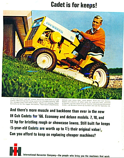 International Harvester Cub Cadet lawn mower (Image1)