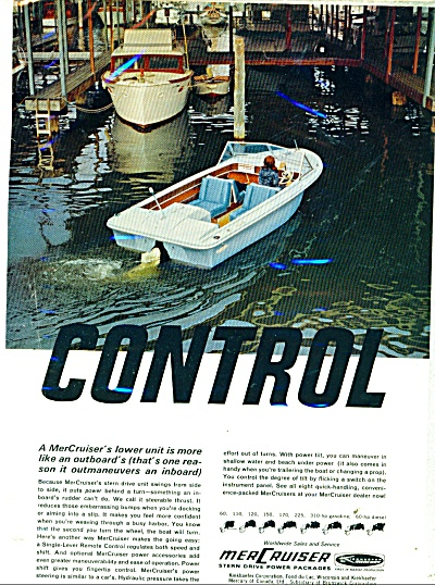 1966 MerCruiser Boat AD Speedboat Mercury (Image1)